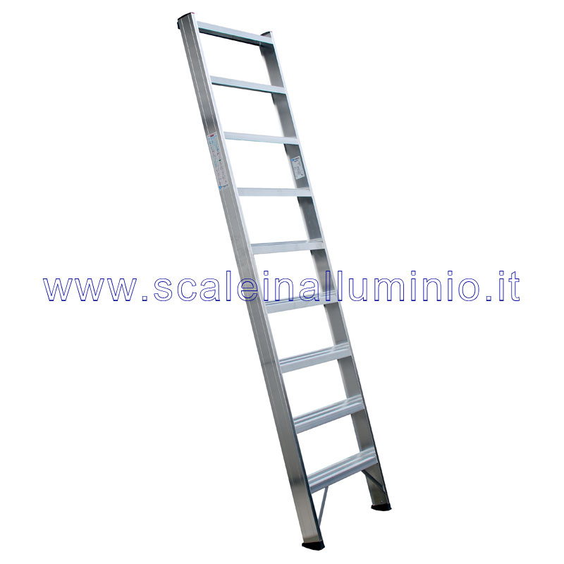 Scala per soppalchi in alluminio 600 mm 9 gradini senza for Leroy merlin scalette
