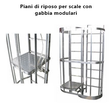 prolunga staffa per scale modulari da 440 a 530 mm
