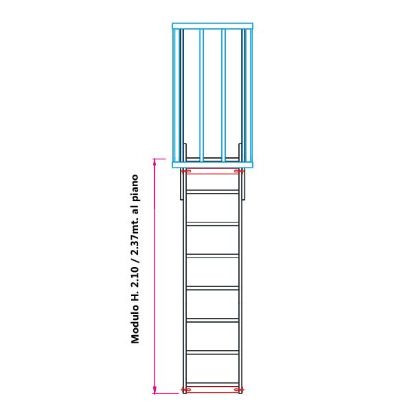 Scale con gabbia di protezione modulare n 1 - Quanto costa costruire una scala esterna ...