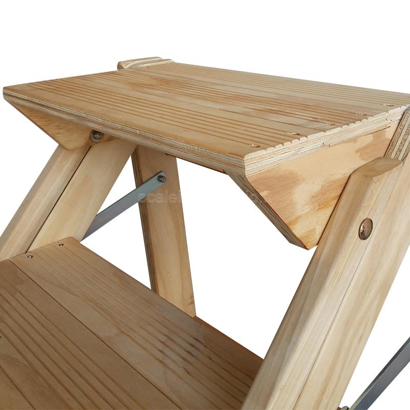 Sgabello 3 gradini in legno vario non verniciato for Gradini in legno massello prezzo