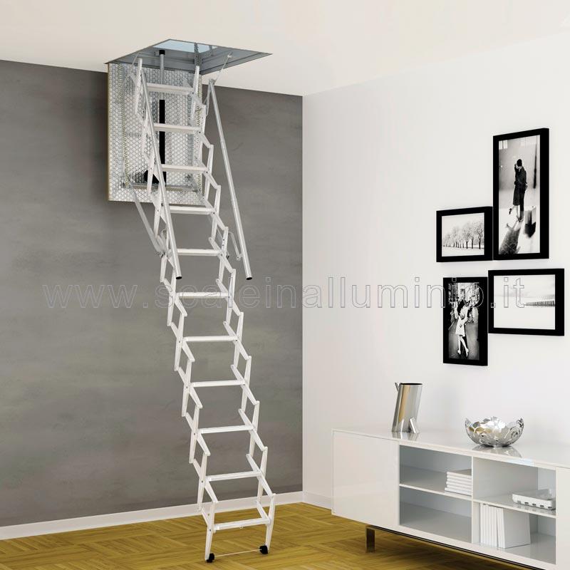 Scale retrattili per soffitte e sottotetti motorizzata 50 x 90 for Scala per soffitta