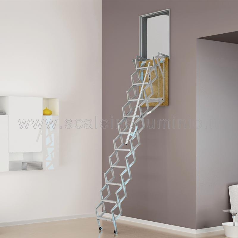 Scale retrattili per soffitte e sottotetti a parete 80 x 100 - Scale per soppalchi ...