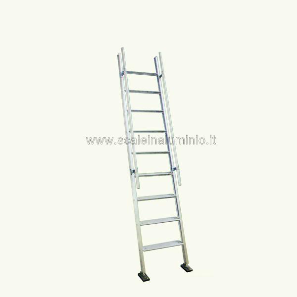 Scala per soppalchi in alluminio scala piria 9 gradini - Scale per soppalchi ...
