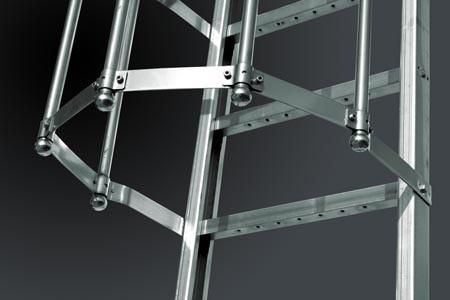 Scale con gabbia in acciaio