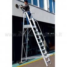 Scale a castello in alluminio con certificato DL 81 - 14 gradini con operatore