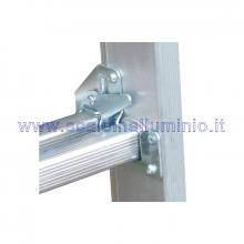 Scala componibile multiposizione in alluminio 2 x 12 gancio sicurezza