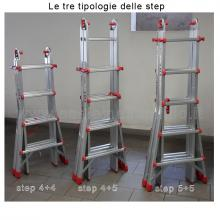 Scala telescopica in alluminio step tipologie