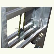 Scala in alluminio con fune 3 rampe 18 gradini