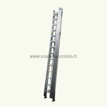 Scala in alluminio con fune 2 rampe 18 gradini