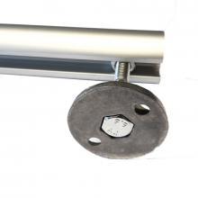 Sistema aggancio tubolare a parete per scale con ganci