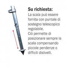 Scala conica 3 piedi con terminale a punta per Agricoltura - 12 gradini puntale telescopico - accessorio