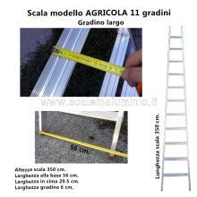 Scala per Agricoltura 11 gradini dettagli