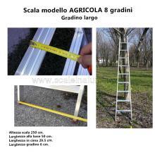Scala per Agricoltura 8 gradini particolare piedino snodabile dettagli