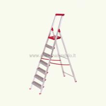 Scala in alluminio salita singola uso casalingo 7 gradini aperta