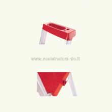 Scala in alluminio salita singola uso casalingo 3 gradini particolari