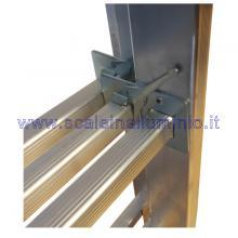Scala in alluminio componibile allungabile 3 rampe 9 gradini ganci