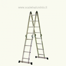 scala in alluminio 4 rampe 4 gradini multiuso articolata