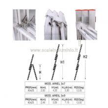 Scala in alluminio componibile allungabile 3 rampe 9 gradini misure