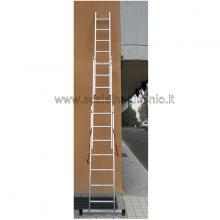 Scala in alluminio componibile allungabile 3 rampe 7 a sfilo
