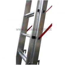 Scala in alluminio - componibile 3 X 9 altro particolare