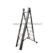 Scala in alluminio componibile allungabile 3 rampe 7