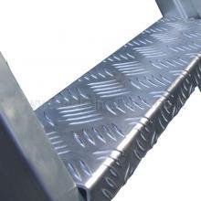 Scala a castello in alluminio 14 gradini gradino antiscivolo