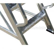 Scala a castello in alluminio 14 gradini particolari gradino e corrimano