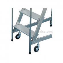 Scale a castello in alluminio variante 2 ruote fisse posteriori e con manici anteriori