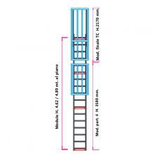 Scala con gabbia di protezione modulare n°10
