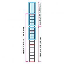 Scala con gabbia di protezione modulare n°11