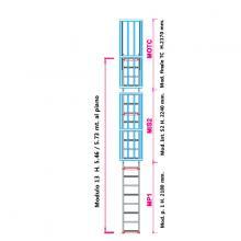 Scala con gabbia di protezione modulare n°13