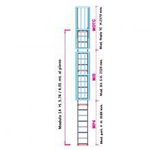 Scala con gabbia di protezione modulare n°14