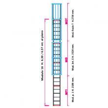 Scala con gabbia di protezione modulare n°16