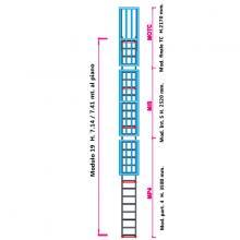 Scala con gabbia di protezione modulare n°19