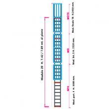 Scala con gabbia di protezione modulare n°20