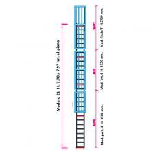 Scala con gabbia di protezione modulare n°21