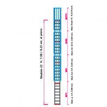 Scala con gabbia di protezione modulare n°22