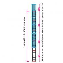 Scala con gabbia di protezione modulare n°23