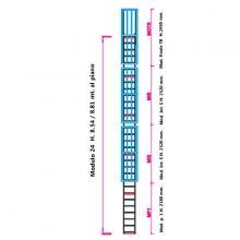 Scala con gabbia di protezione modulare n°24