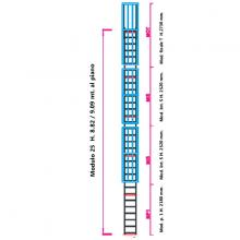 Scala con gabbia di protezione modulare n°25