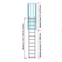 Scala con gabbia di protezione modulare n°5