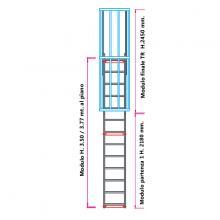 Scala con gabbia di protezione modulare n°6