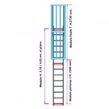 Scala con gabbia di protezione modulare n°7