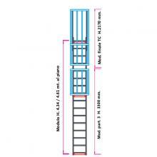 Scala con gabbia di protezione modulare n°9