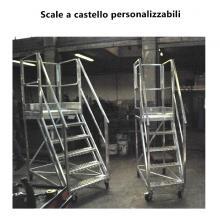 Scala a castello in alluminio personalizzabili
