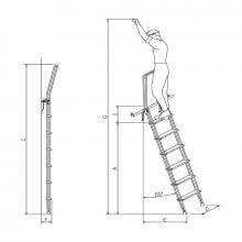 Scale con ganci 7 gradini con guardacorpo misure