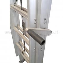 Scale con argano 2 x 15 utilizzo sfilo e cavalletto manovella di azionamento