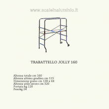 Scale in alluminio - Trabatello Jolly 160