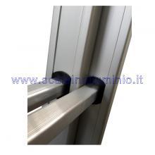 Scala componibile in alluminio 3 x 8 ruote innesti rampa gradini