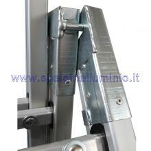 Scala componibile in alluminio 3 x 8 ruote cerniere in acciaio